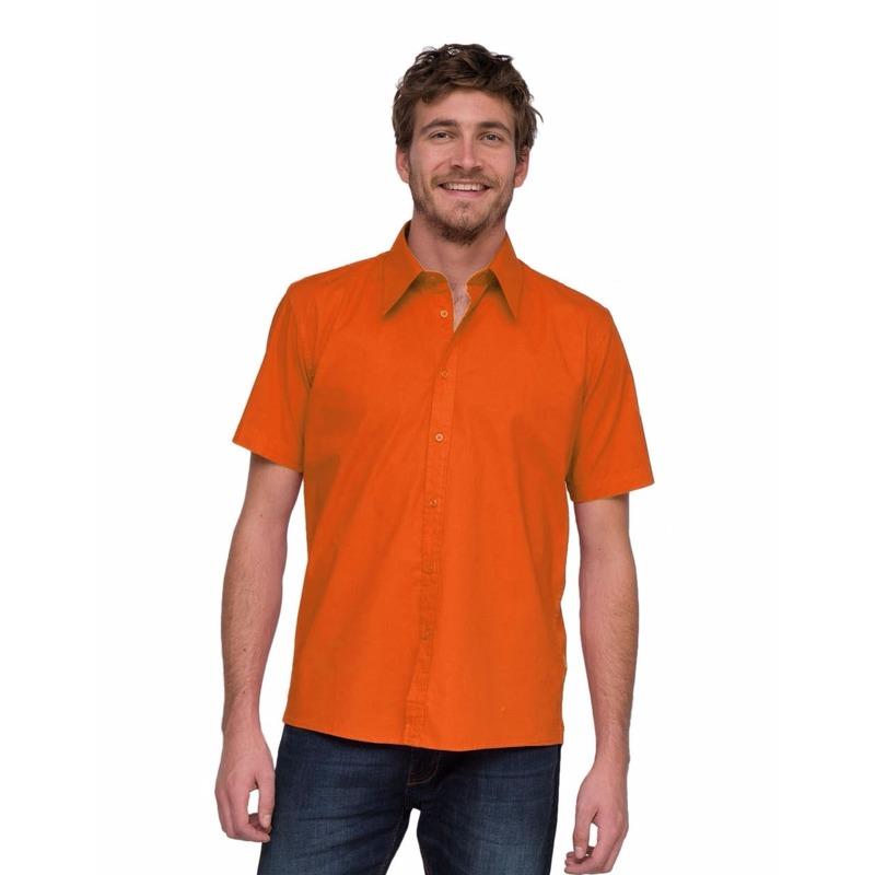 LemonSoda overhemd voor heren oranje