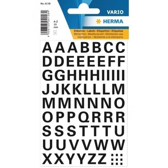 Letterstickers zwart 10mm 65x (bron: Oranjediscounter)