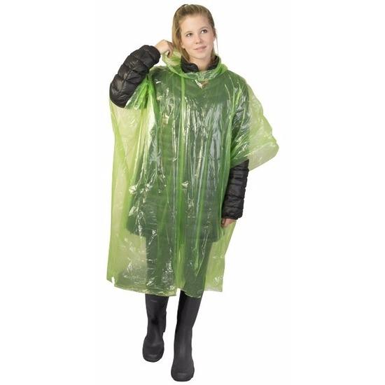 Lime groene noodponcho doorschijnend