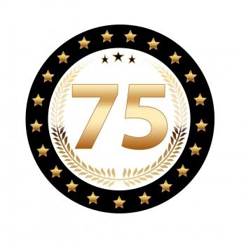 Luxe 75 jarige bierviltjes (bron: Oranjediscounter)