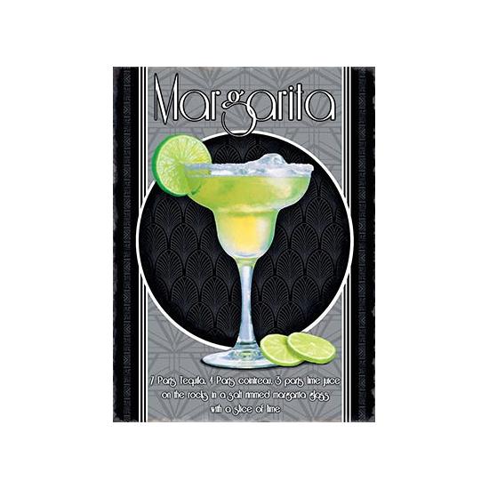 Metalen wand bordje Margarita (bron: Oranjediscounter)