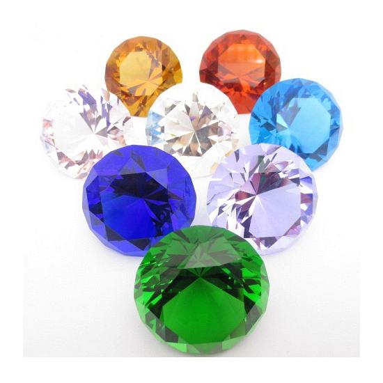 Mooie groene decoratie diamant 4 cm (bron: Oranjediscounter)