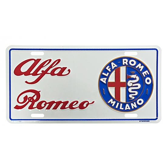 Muurplaatje Alfa Romeo (bron: Oranjediscounter)