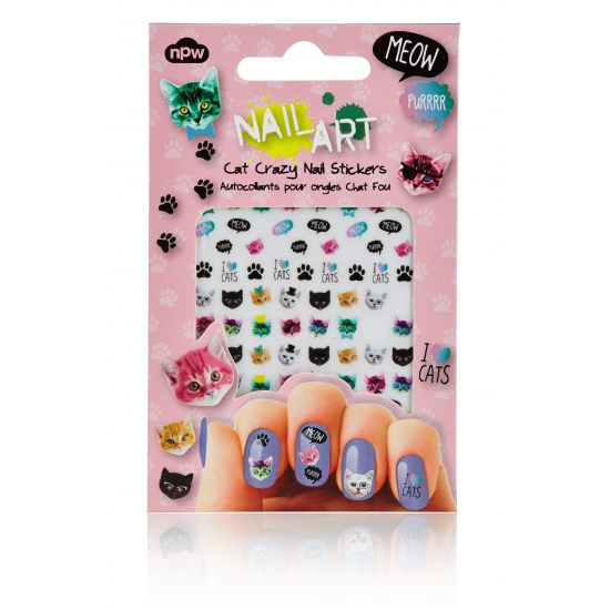 Nagel decoratie sticker set katten (bron: Oranjediscounter)