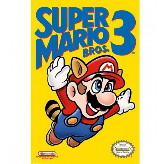 Nintendo Mario Bros kinder posters (bron: Oranjediscounter)
