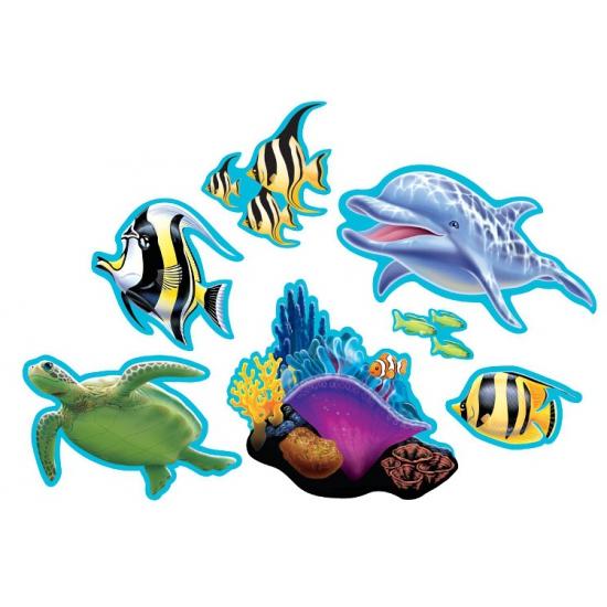 Oceaan thema decoraties 7 stuks (bron: Oranjediscounter)