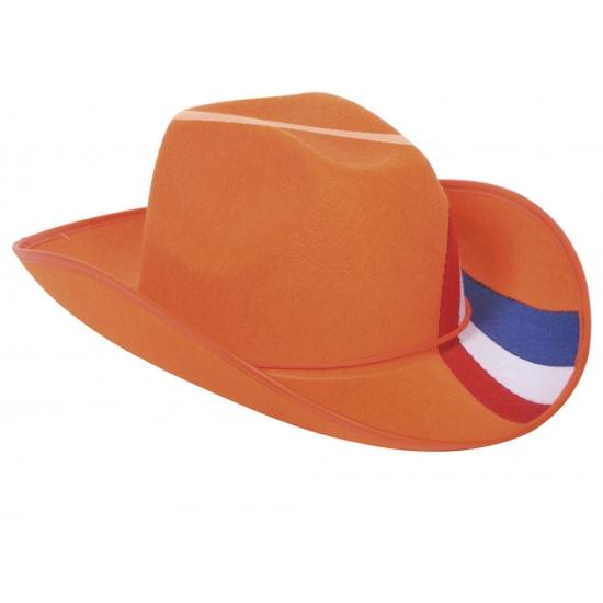 Oranje cowboy hoed Nederland (bron: Oranjediscounter)