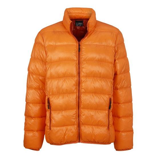 Oranje donsjassen voor heren