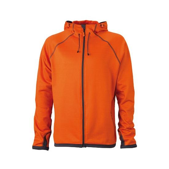 Oranje heren fleece vesten (bron: Oranjediscounter)
