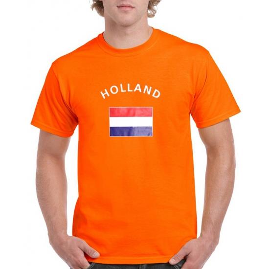 Oranje holland vlag t-shirts (bron: Oranjediscounter)