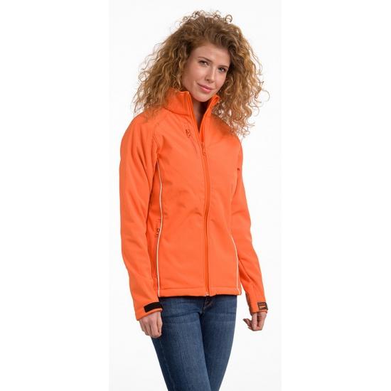 Oranje polyester damesjas (bron: Oranjediscounter)