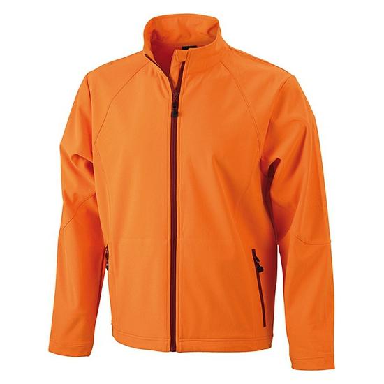 Oranje polyester heren wind jasje