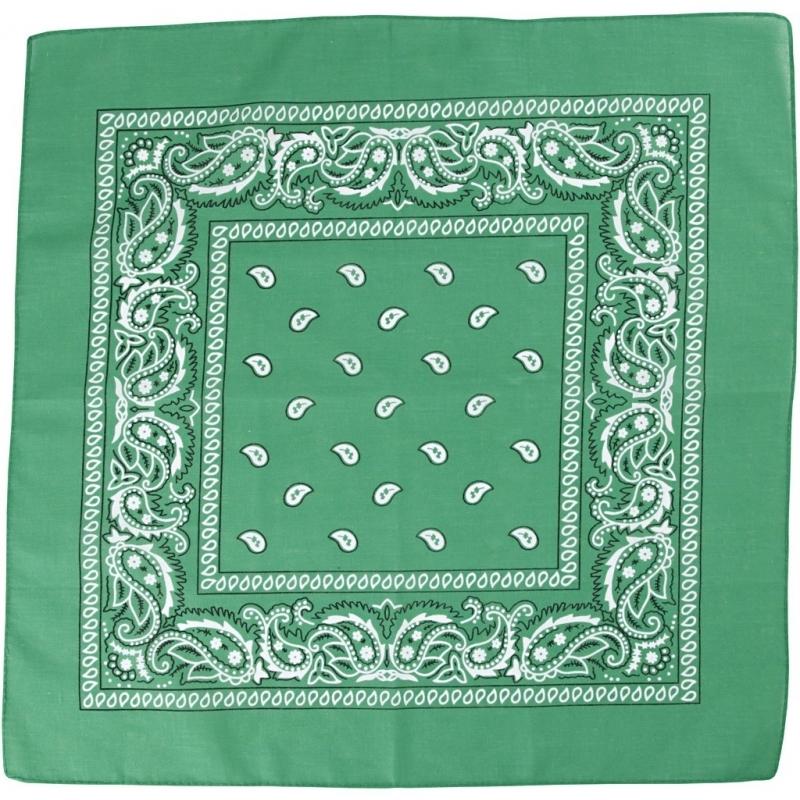 Paisley print bandana donkergroen