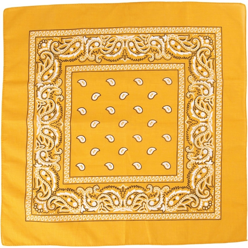 Paisley print bandana geel