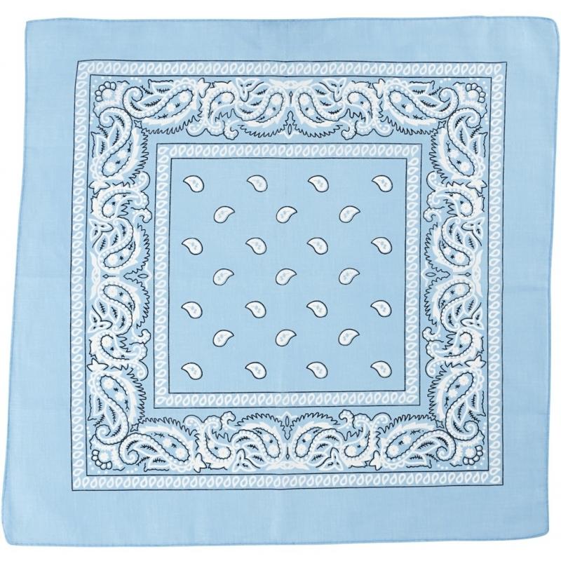 Paisley print bandana lichtblauw