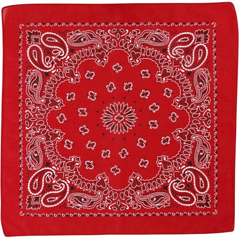 Paisley print bandana rood