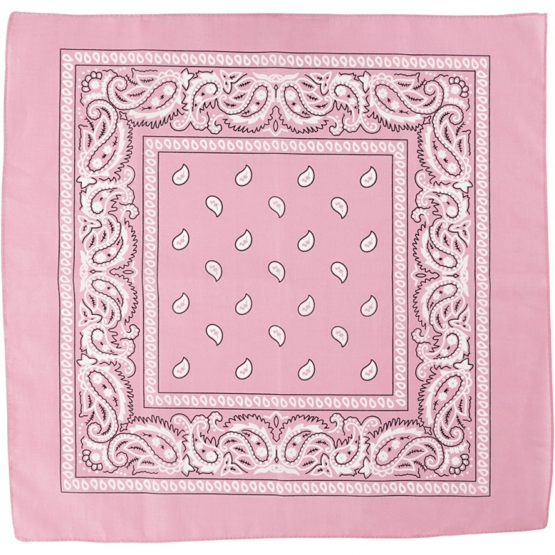 Paisley print bandana roze