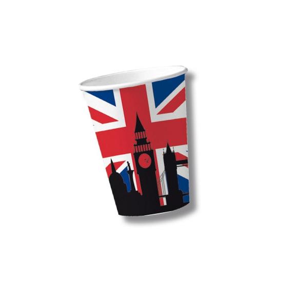 Papieren United Kingdom bekers 10 st (bron: Oranjediscounter)