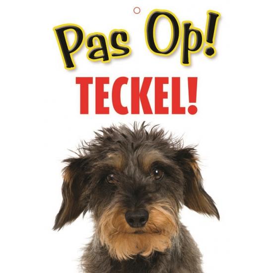 Pas op voor Teckel bordje (bron: Oranjediscounter)