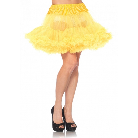 Petticoat luxe geel voor dames (bron: Oranjediscounter)