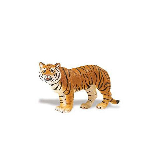 Plastic Bengaalse tijgerin bruin 14 cm (bron: Oranjediscounter)