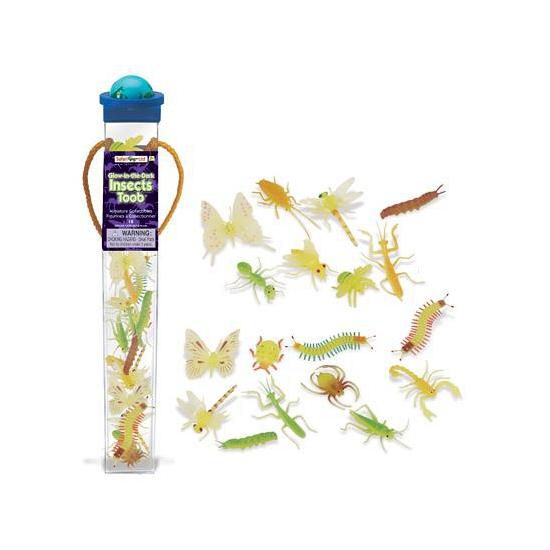 Plastic insecten dieren glow in the dark 18 stuks (bron: Oranjediscounter)