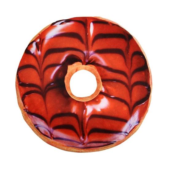 Pluche donut kussen bruin 40 cm (bron: Oranjediscounter)