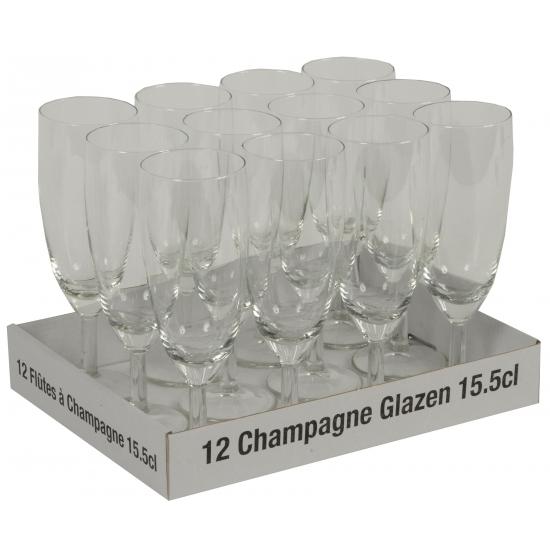 Prosecco glazen 12 stuks (bron: Oranjediscounter)