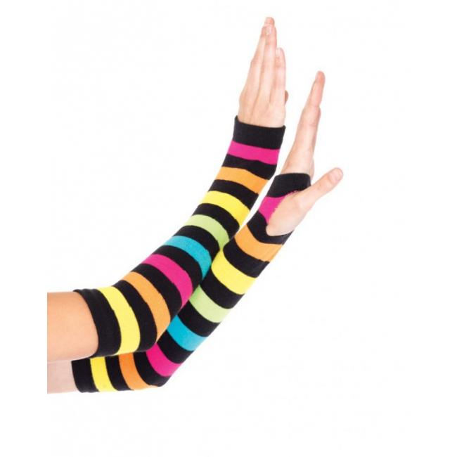 Regenboog handschoenen zonder vingers (bron: Oranjediscounter)