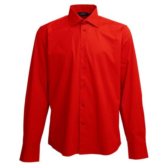 Rode heren overhemden