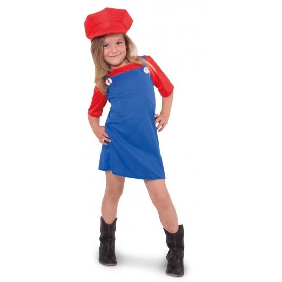Rode loodgieter outfit voor meisjes (bron: Oranjediscounter)
