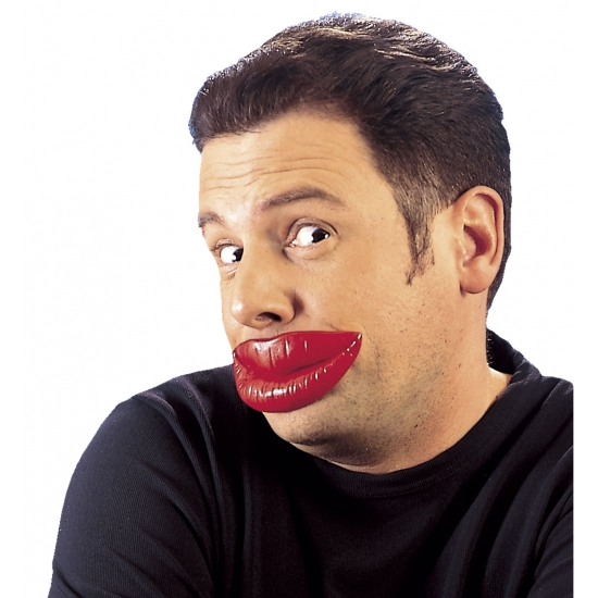 Rode nep lippen