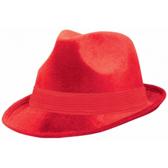 Rode suede hoeden