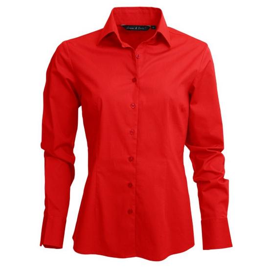 Rood dames overhemd