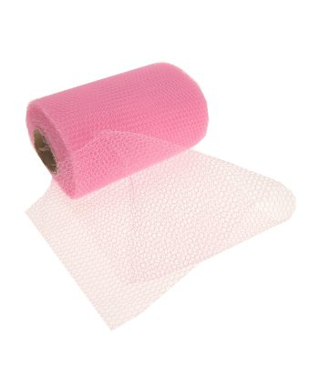 Roze gaas stof op rol (bron: Oranjediscounter)