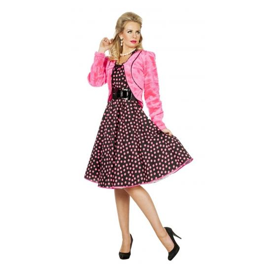 Roze nepbonten jasje voor dames (bron: Oranjediscounter)