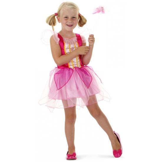 Roze prinsessen outfit met toverstaf (bron: Oranjediscounter)
