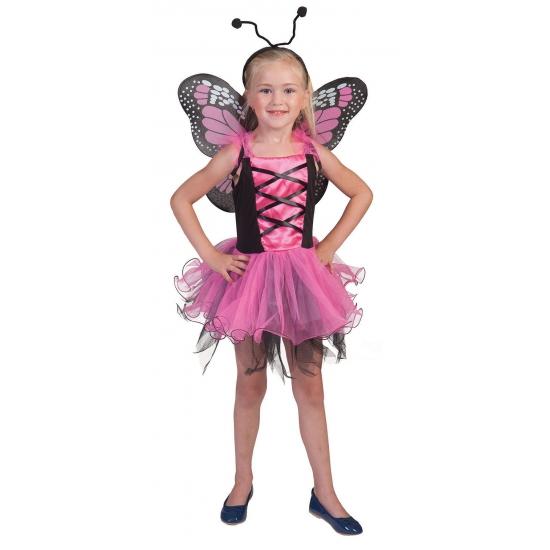Roze vlinderfeeen jurkje voor meisjes