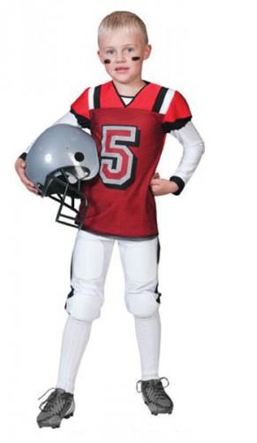 Rugby kostuum rood met wit voor kids (bron: Oranjediscounter)