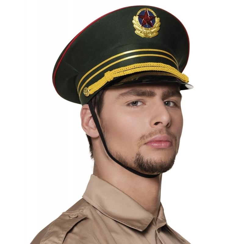 Russische militair pet groen (bron: Oranjediscounter)