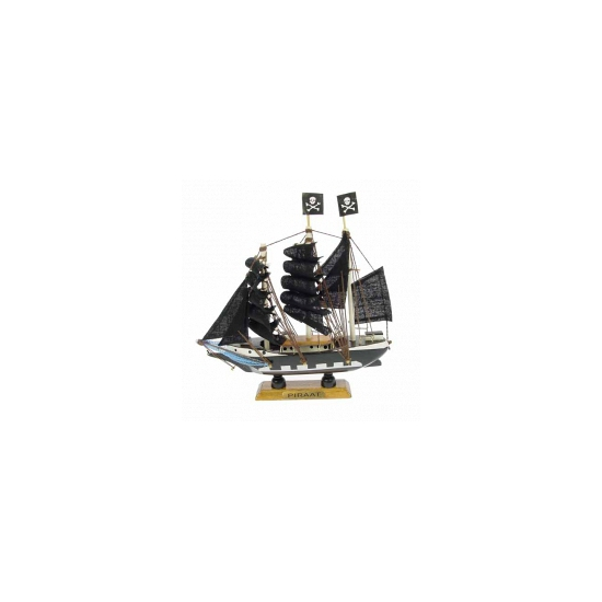 Schaalmodel piratenschip 16 cm (bron: Oranjediscounter)