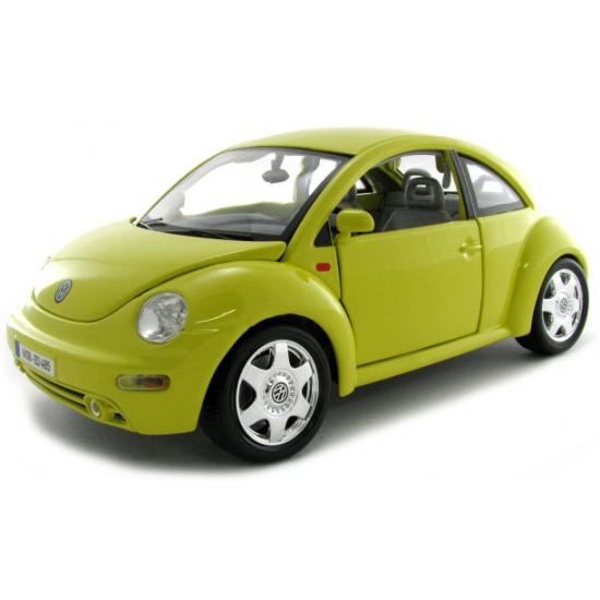Schaalmodel Volkswagen Beetle geel (bron: Oranjediscounter)