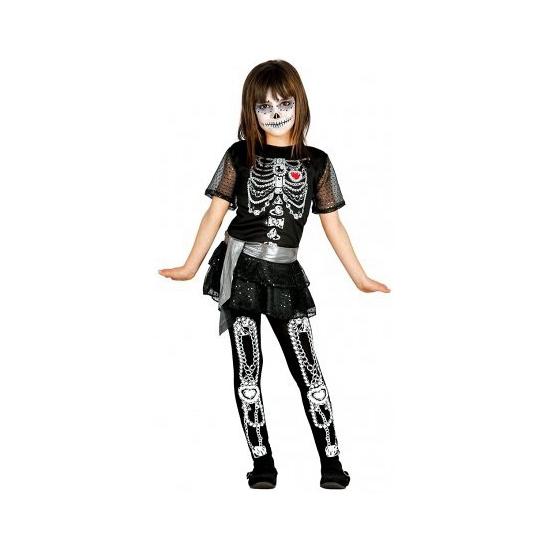 Skelet juwelen meisjes kostuum
