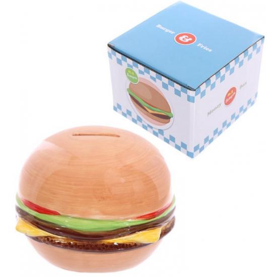 Spaarpot hamburger 11,5 cm