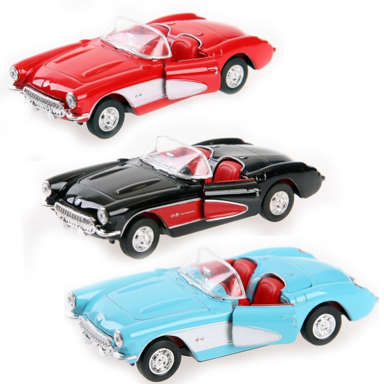 Speelgoed auto Chevrolet Corvette 1957 cabrio (bron: Oranjediscounter)
