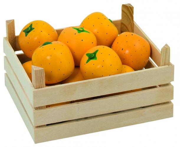Speelgoed sinaasappels in kist