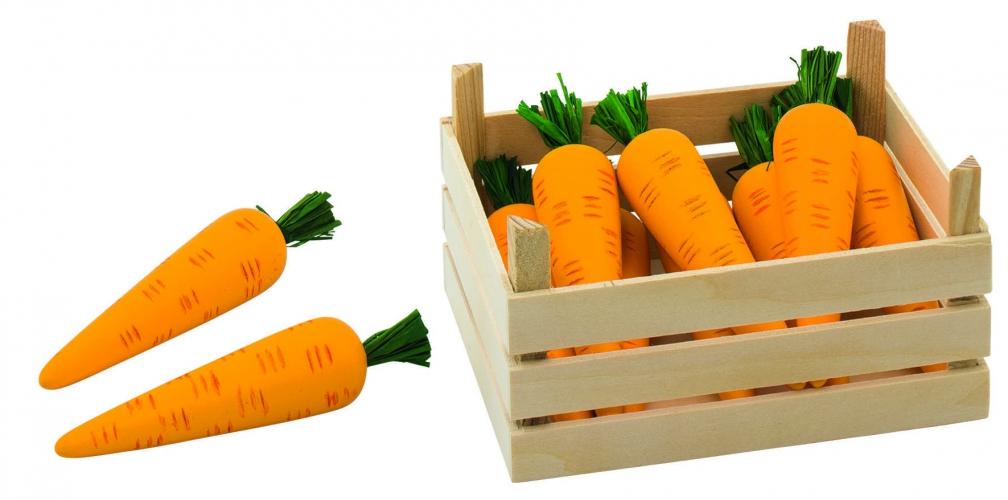 Speelgoed wortelen in kist