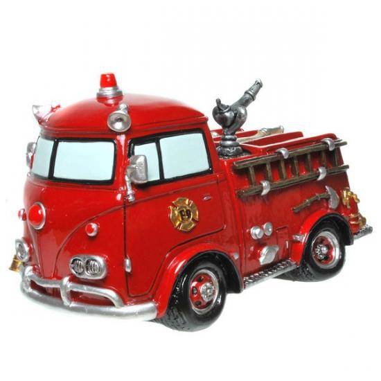 Stenen spaarpot brandweerauto (bron: Oranjediscounter)