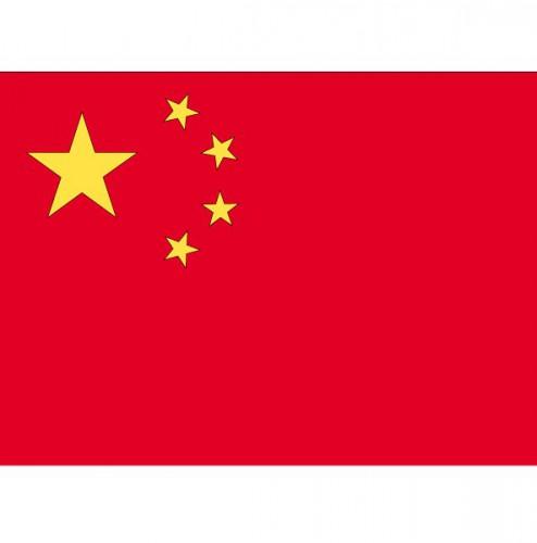 Stickertjes van vlag van China (bron: Oranjediscounter)