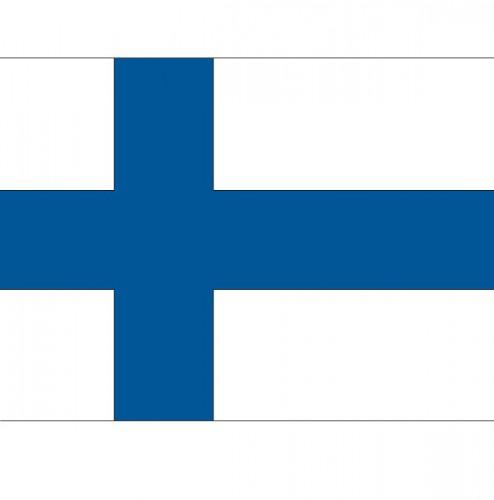 Stickertjes van vlag van Finland (bron: Oranjediscounter)